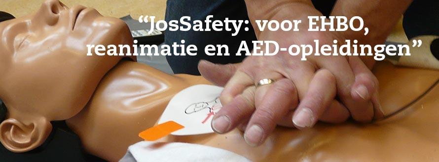 JosSafety voor EHBO, reanimatie en AED opleidingen